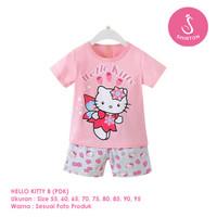 Setelan Baju Tidur Anak Perempuan Import Pendek Hello Kitty B Shirton - KITTY B PDK, Size 55