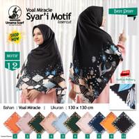 Jilbab Segi Empat Big Size Voal Miracle Jumbo Syari Laser Cut Motif 12