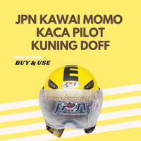 HELM JPN KAWAI MOMO KACA PILOT ORIGINAL MURAH LARIS - KUNING DOFF