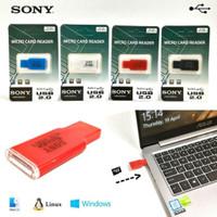 SONY Card Reader Micro SD Slim / Cardreader Memory Card, Speed USB