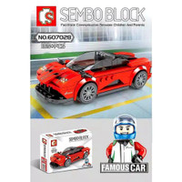 Mainan Lego Mobil Balap Sembo Block Brick Car Sedan P1 Bricks Edukatif