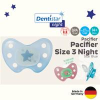 Dentistar Orthodontic Night Pacifier for Baby 14 bulan ke atas-Empeng - Biru Muda