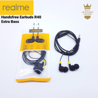 Headset Handsfree Earphone Realme R40 Earbuds Stereo Extra Bass