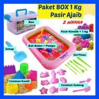 Mainan BOX MINI Pasir AJAIB 1 KG, Mainan Anak Cewek, Cowok, Perempuan - 2 Warna