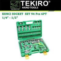 """Kunci Sock Set 1/4"""" - 1/2"""" 94 Pcs 6PT TEKIRO SC-SE0622"""