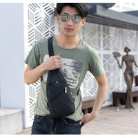 NEW Tas Selempang Pria import - Sling Bag USB Charger Anti Maling F44