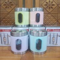 Toples Tempat Bumbu Makanan 1500 ml Jar Stainless Dubblin DBN-1881