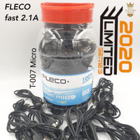 KABEL DATA FLECO MICRO 2.1A T-007 ORIGINAL 100% HITAM