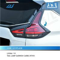JSL Garnish list lampu stoplamp belakang Carbon All New Livina