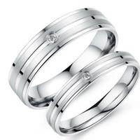 cincin couple titanium gratis ukir nama dan kotak love - silver 1 eyes