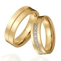 cincin couple titanium gratis ukir nama dan kotak love - gold 9 eyes