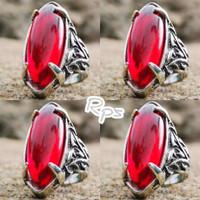 Batu Cincin Akik Merah Siam Pandan Kristal High Quality