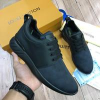 Sepatu Sneakers Pria Branded Louis Vuitton LV FASTLANE Sneaker Black 2