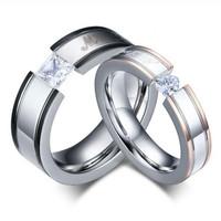 cincin couple titanium gratis ukir nama dan kotak love - my love 1eye
