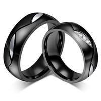 cincin couple titanium gratis ukir nama dan kotak love - black diamond