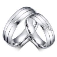 cincin couple titanium gratis ukir nama dan kotak love - silver 4 eyes