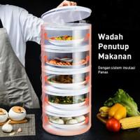 Food storage 5 susun layer wadah Tudung saji makanan cover Rak Tempat