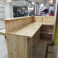 meja bar cafe kayu custom