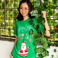 kaos LCC cotton edisi natal jingle - Hijau, Anak S