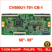 Tcon TV 50 55 inch - CV500U1-T01-CB-1 T-con Board Philips Sharp TCL