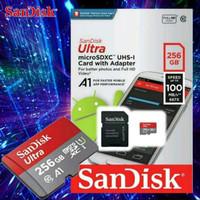 SanDisk 256GB Kartu Memori 100MB/S Ultra Microsd SD