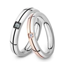 cincin couple titanium gratis ukir nama dan kotak love -black rosegold