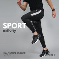 Half Stripe Jogger - Abu Misty, All Size