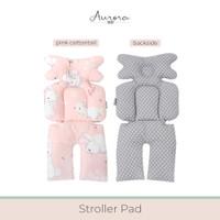 Aurora Baby - Alas Stroler dengan Sandaran Bantal Peyang (Peang) - Pink Winter