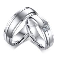 cincin couple titanium gratis ukir nama dan kotak love - silver 3 eyes