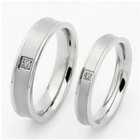 cincin couple titanium gratis ukir nama dan kotak love - silver 1eye