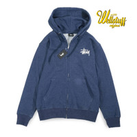 jaket hoodie Pria Original Zip Hoodie Stussy Original Washed