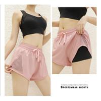 R18 Celana Sport Pendek Wanita Hotpants Senam Aerobik Gym Fitness Yoga