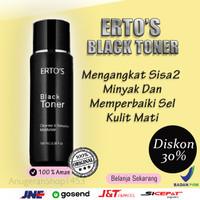 Toner Pembersih Wajah Ertos Black Perawatan Kulit Original Tangerang