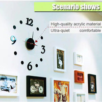 Jam Dinding Besar Giant Wall Clock Creative Design 30-50cm 06