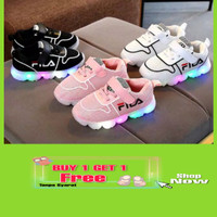 promo sepatu led lampu anak perempuan cewek cowok bayi laki import 6