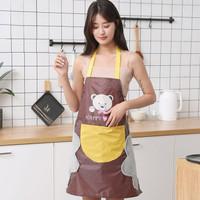 Celemek Premium bisa lap tangan apron masak anti air minyak dapur set