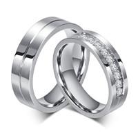 cincin couple titanium gratis ukir nama dan kotak love - silver 9 eyes