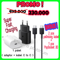 Charger Samsung 45W Type C To C Super Fast Charging S20 ultra note 10+