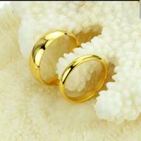 cincin couple titanium gratis ukir nama dan kotak love - gold elegant