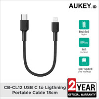 Kabel iPhone Aukey CB-CL12 USB C to Ligthning Portable 18cm - 500707