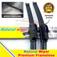 Wiper Karet Kaca Depan Honda Brio Original TMC Premium Frameless nwb