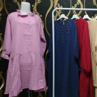 SALE! Dress Tunik Cute Pink Chic Fashion