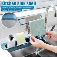 Rak Wastafel Dapur Tempat Penyimpanan Spon Kain Lap Sink Flexible