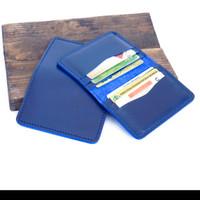 dompet kartu dan uang pria wanita kulit asli slot 6 warna biru