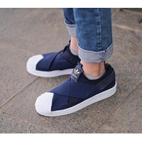 SEPATU SNEAKERS ADIDAS SUPERSTAR SLIP ON NAVY