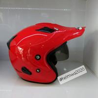 helm half face MDS double visor polos RD