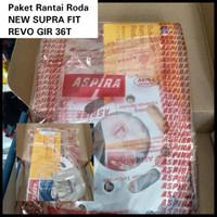 GEAR PAKET RANTAI RODA ASPIRA HONDA NEW SUPRA FIT,REVO GIR 26T