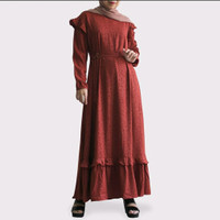 (Promo Buy 1 get 1) Gamis Dress Motif Nobby - Besti Dress