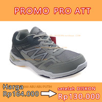 NO 41 PRO ATT WAL 4000 ABU-ABU PUTIH sepatu running casual sneaker