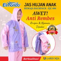 Jas Hujan Anak Remaja SD SMP Elmondo BACKPACK 606 Setelan Jaket Celana - Hijau